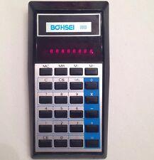 Rare BOHSEI 3000 Pocket Calculator Red Digits Made in Hong Kong