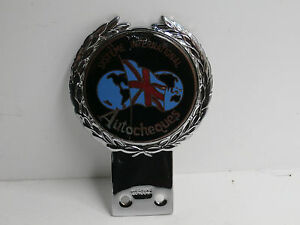 J R Gaunt Systeme International Autocheques. Car Club Badge.