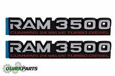 98-02 DODGE RAM 3500 CUMMINS 24 VALVE TURBO DIESEL EMBLEM NAMEPLATE BADGE MOPAR