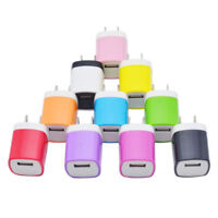 USB Plug Power Wall Charger Adapter Charging Head Home Travel 5V 1A on