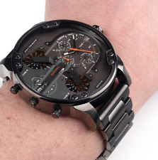 NEW GENUINE DIESEL DZ7315 DADDY 2.0 GUNMETAL GREY CHRONOGRAPH MENS WATCH UK