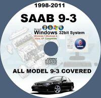 SAAB 9-3 1998-TO-2011 WIS ALL MODELS MASTER WORKSHOP SERVICE MANUAL SYSTEM CD