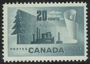 canada stamps - 1952 forestry issue Mint NH - 20c grey sg441
