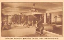 (550) Postcard of The ladies' Restroom, Hotel Armondale, Los Angeles, Ca.