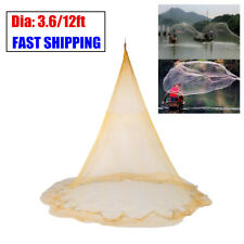 8x12FT Big Nylon Monofilament Fish Gill Net Easy Throw Fishing For Hand Cast