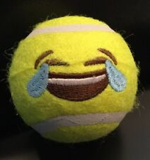 New 4 EMOJI Embroidered Tennis Balls Ball Dog Puppy Toys Pet Play Emoticons