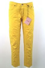 pantaloni donna JECKERSON 28 giallo cotone elastan AM65