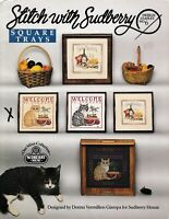 Stitch with Sudberry Square Trays Cats Cross Stitch | Sudberry House #6
