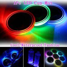 Universal 7Color LED Car Cup Holder Light Solar Cover Trim Bottom Bottle Mat Pad