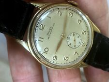 1950's DOXA MANUAL WIND GOLD FILLED STAINLESS STEEL BACK CASE SUB DIAL RUNS