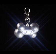 Karlie Dog Collar & Lead BLINKY BONE Flashing LED Nightime Safety & Waterproof!