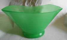 Vintage Steuben Jade Green Peking Glass Ovate Elliptical Centerpiece Vase Bowl