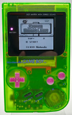 Nintendo Game Boy DMG-01 Watermelon LCD IPS v2 / New Capacitors, Shell, Buttons