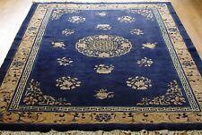 Fine Chinese Peking Antique c.1910 Hand-Knotted Wool Oriental Rug 6' x 8'7""