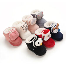 Lovely 3D Animal Baby Boy Girl Crib Shoes Newborn Infant Winter Snow Boots 0-18M