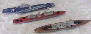 Matchbox Lesney Sea Kings x 3 Frigate K301 Battleship K303 & Carrier K304 TLC?