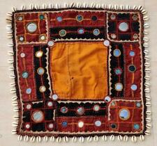 Handmade Mirror Cowries Embroidery Old Tribal Ethnic Wall Hanging Decor Tapestry