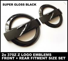 2x 370Z Z LOGO GLOSS BLACK EMBLEM BADGE FRONT AND REAR SET