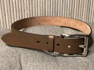 Authentic NEW Michael Kors Collection Brown Leather Belt Size XS