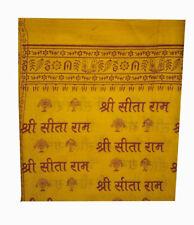 New listing Hindu Orange Religious Shawl Throw Wrap Prayers Hare Rama Sita Mantras Yoga