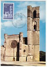 CARTE MAXIMUM FDC 1976 TIMBRE N° 1902 CATHEDRALE DE LODEVE
