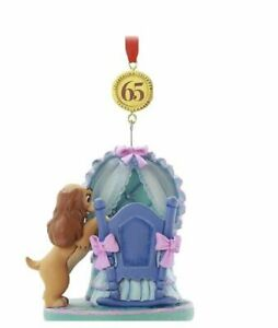 Disney Store Lady and the Tramp Legacy Hanging Ornament new Christmas decoration