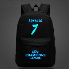 Fútbol Mochila Escolar Bolsa CR7 Cristiano Ronaldo Juventus F.C. Lona Bolso Chicos