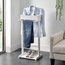 en.casa® Kleiderständer Herrendiener Hosenhalter Stummer Diener Garderobe Weiß