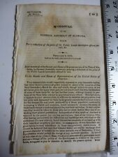 Government Report 1833 Alabama Reduction In Price Of Public Lands Sale. #3512