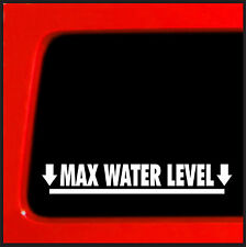 Max Water Level - sticker for jeep cherokee 4x4 decal offroad funny SUV JDM