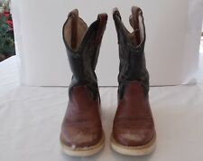 Old Used Brown Black White Old West Children's Leather Boots Great for Crafting
