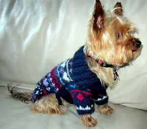 Yorkshire Terrier Hand Made Dog Sweater Clothing Deluxe Size Small Easter Motif
