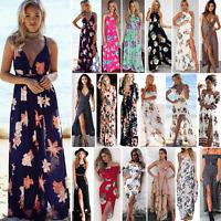 Summer Womens BOHO Beach Sundress Evening Party Cocktail Long Skirt Maxi Dress
