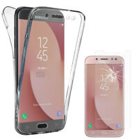 Coque Silicone Gel 360° protection Samsung Galaxy J7 (2017) + Film Verre Trempe