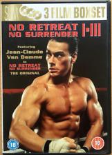 No Retreat Surrender DVD Caja Set 1 2 3 Artes Marciales Trilogy Películas
