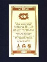 2019-20 UD O-Pee-Chee Caramel Wood Mini #C-23 Max Domi - Montreal Canadiens