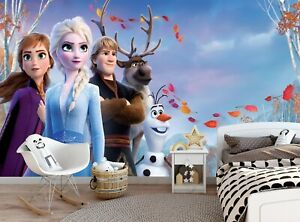 Vlies Fototapete Tapete Poster Frozen Eiskönigin Elsa Anna KLEISTER T12