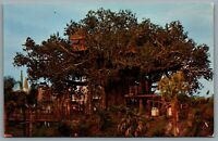 Postcard Walt Disney World FL c1960s Swiss Family Robinson Treehouse 1110207 A