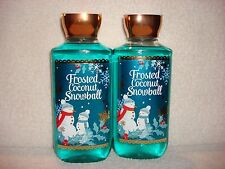 2 Bath & Body Works Frosted Coconut Snowball Shower Gel 10 fl oz each Bottle