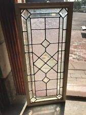 Sg 1546 Antique Stained Beveled Transom Window 16 X 37