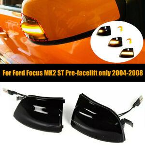 2Pcs Dynamic LED Turn Signal Mirror Indicator Light For Ford Focus Mk2 ST 04-08