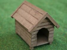 Wooden Dog Kennel, Doll House Miniature Garden Accessory, 1,12 Scale