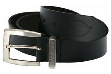 Dickies Black Leather Work Belt Mens Grafters Practical Nickle Finish (BE100)