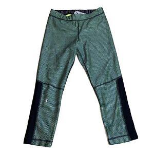 UNDER ARMOUR Compression HeatGear green black capris leggings medium