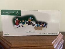 """Dept. 56 Christmas In The City """"Sidewalk Games� New!"""