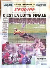 L'Equipe Journal 22/4/2001; Liège-Bastogne-Liège/ Finale coupe de France/ Arron