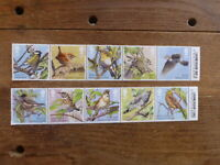 GREAT BRITAIN 2017 SONGBIRDS SET 8 MINT STAMPS