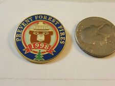 SMOKEY THE BEAR PREVENT FOREST FIRES PIN 1998
