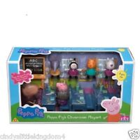 New Peppa Pig classroom school with 7 figures playset toy with Madame Gazelle