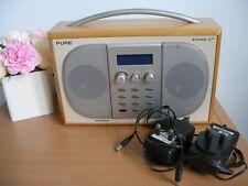 PURE Evoke 2XT Large Digital Radio & 2 Chargers -   (ref T19)